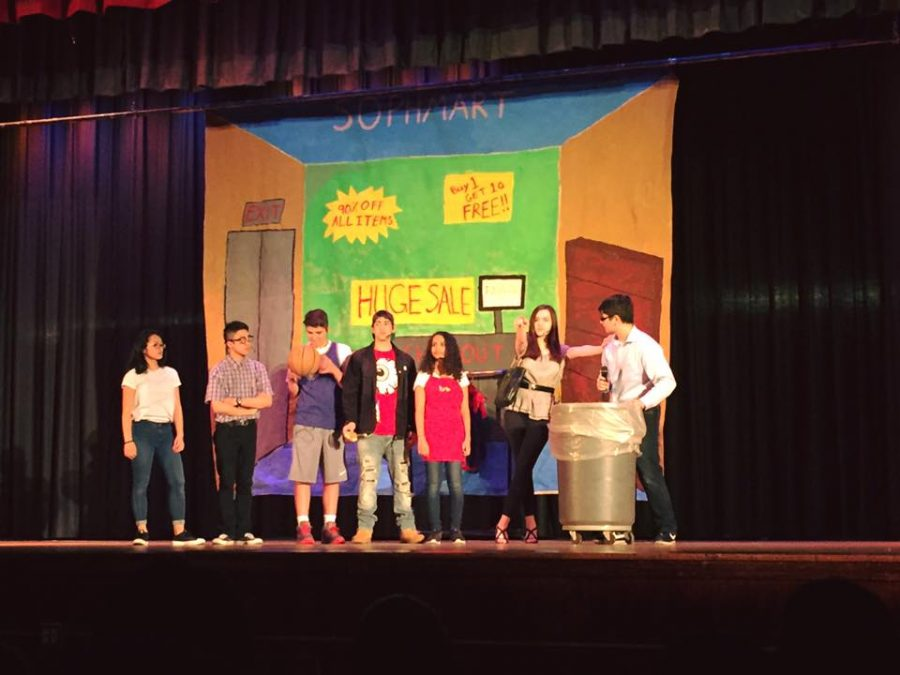 Sophomores perform in SING. Photo by Emanuel Figetakis