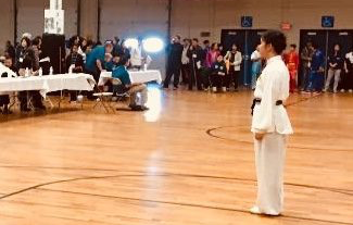 Ji competing at the 7th Annual New England International Martial Arts Championship in November.