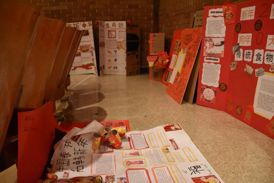 Chinese posters ready to be set during Period 1.
