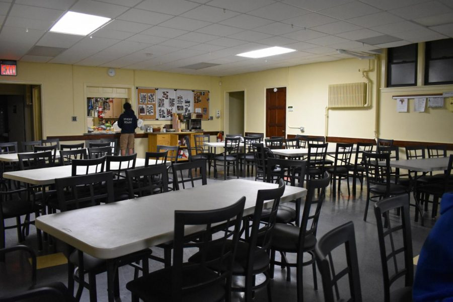 The church accepts many volunteers to help with the preparations before crowds of middle schoolers fill up the empty seats.
