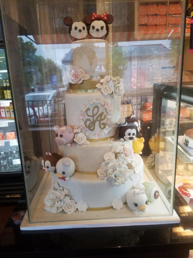 A beautiful character cake on display.