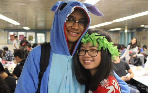 Juniors Michaelangelo Tenorio and Cadence Ma as Stitch and Lilo