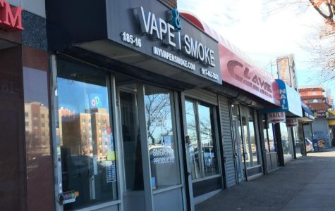 VAPE&SMOKE is a shop that specializes in tobacco products including e-cigarettes. It should be noted that NY State Law prevents people under age 21 from entering a shop that specializes in tobacco products. Francis Lewis News tried visiting the website advertised on the store front, but the domain does not exist. Francis Lewis News also tried reaching out to them via FaceBook Messenger, but the owners have not responded.