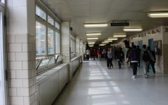 Empty Halls: Francis Lewis High School on March 15th, the Friday before Spirit Week begins. Students scatter to class before the late bell rings.