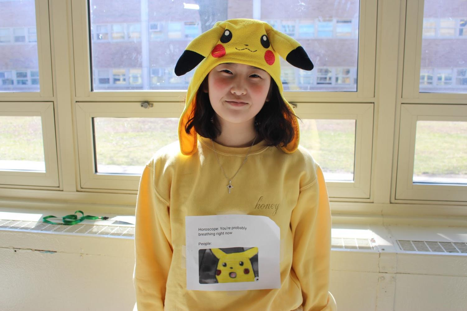 Pika+Pika%3A+SO+representative+and+senior+Ellen+Lee+poses+in+her+Pokemon-inspired+outfit.+As+a+member+of+SO%2C+Lee+disclosed+some+details+about+the+behind+the+scenes+of+Spirit+Week.+%E2%80%9CWe+have+meetings.+So%2C+all+the+SO+members+have+meetings+mostly+on+Tuesdays%2C%22+Lee+explained.+%22And+we+decide+which+day+is+most+appropriate+for+each+day.%E2%80%9D