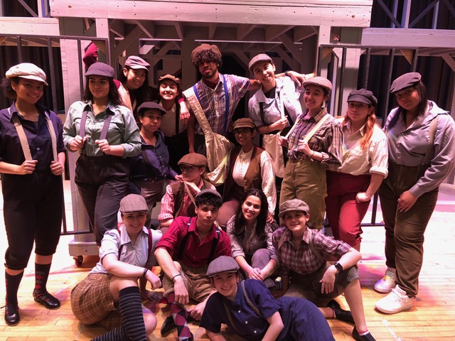 Francis Lewis High School cast of Newsies.