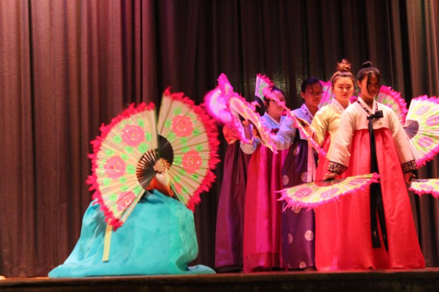 The Korean Fan Dance presented the audience with special techniques and coordinations using fans while dressed in traditional attire called hanbok.