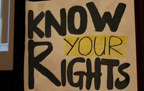 The poster urged students of minority groups to be aware of and to exercise their rights.