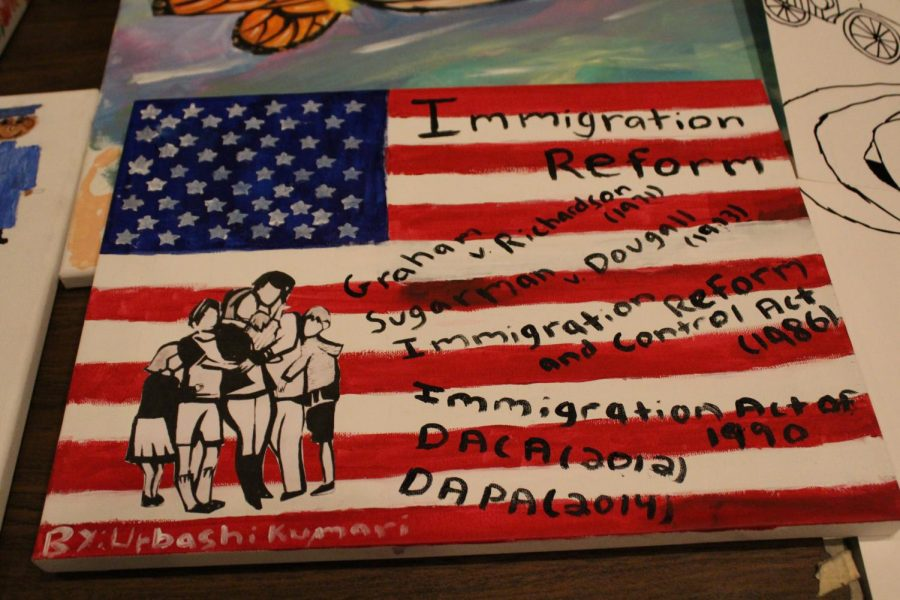 The painting commemorates Deferred Action for Childhood Arrivals and its long-lasting reforms.