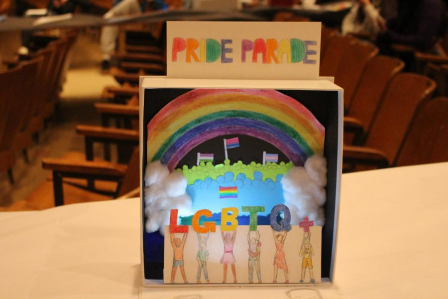 The LGBTQ+ community has faced prejudice, so the diorama embraces its differences.