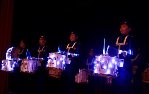 JROTC Drum Corps opens the event with the first performance.