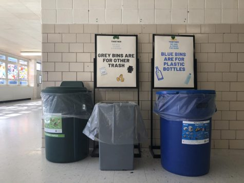 The first steps of the Green Team is to have recyclable stations on the first floor and green bins on the third floor.  The club will weigh paper being recycled to record progress throughout the school year.