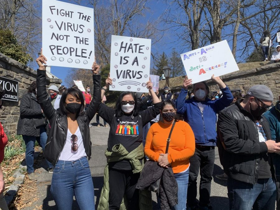 March 21, 2021 a protest was held in Douglaston, Queens to support Asian-Americans aa Asian hate continues to arise.