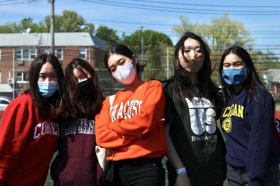 From left to right: Kathey Chen, Cornell University; Hannah Yang, Fordham University; Grace Choi, Syracuse University; Rachel Kim, Binghamton University; and Kristen Huang, University of Michigan.